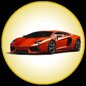 Lamborghini in a gold hue for super car hire