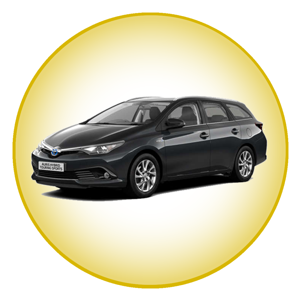 accident replacement hire car in a gold hue